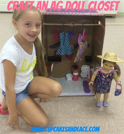 how do you make an american girl doll house cupcakes and lace 187 american girl doll closet 18 doll craft make this from a