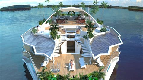 Island Houses by These Solar Powered Floating Island Homes Are A