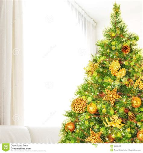 christmas tree at home royalty free stock photo image