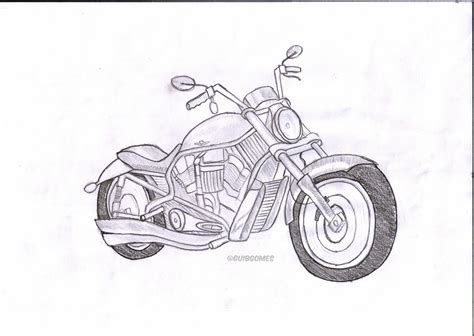 Harley Davidson Handdraw By Guibgomes On Deviantart