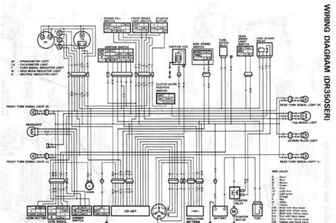 suzuki dr350s electrical wiring diagram all about wiring