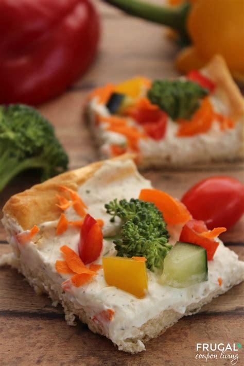 veggie pizza  crescent rolls