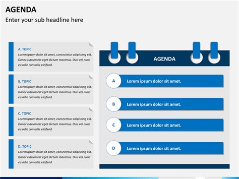 agenda powerpoint template sketchbubble