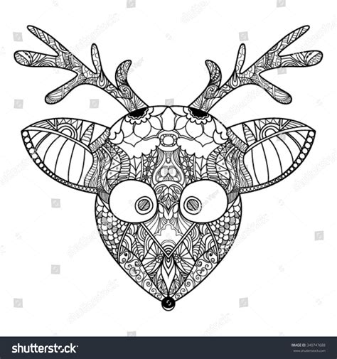 reindeer card template decorative zendoodle reindeer template greeting card stock