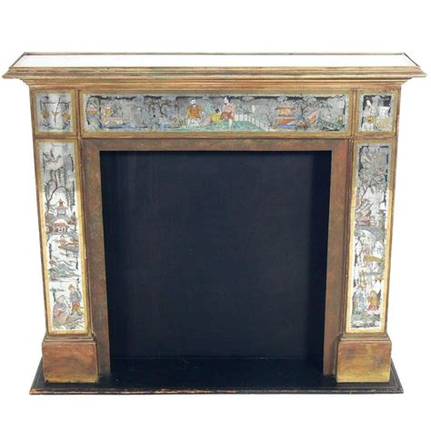 Mirrored Fireplace by Regency 1930s Mirrored Fireplace Mantel With