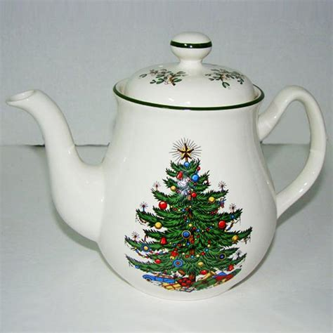 christmas teapots made in england vintage cuthbertson china tree tea pot coffee