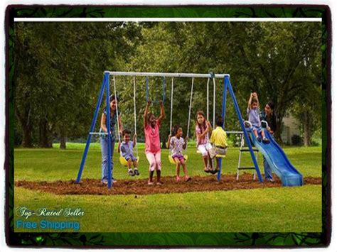 backyard metal swing sets playground metal swing set swingset outdoor play slide