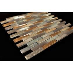 Bathroom Colors With Grey Tile - bronze aluminum multi color slate glass backsplash mosaic tiles