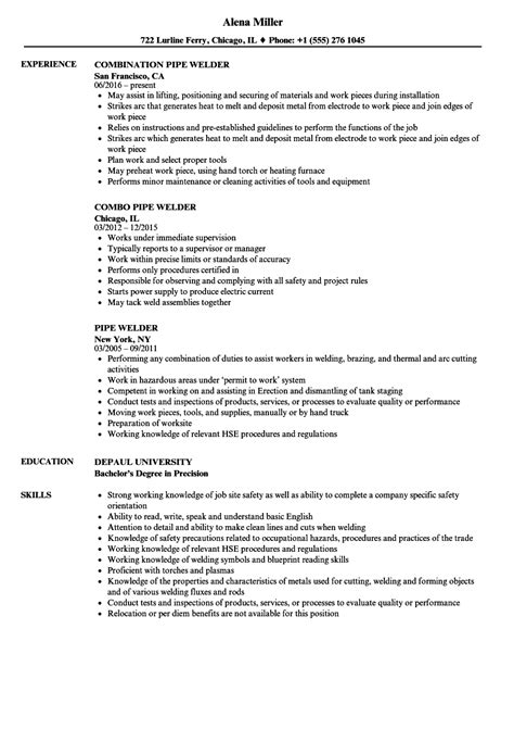 Welder Resume No Experience by Welder Resumes Sles Design Templates