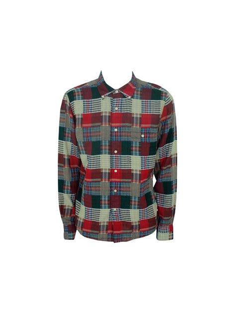 As A Button Patchwork - ymc patchwork button shirt multi ymc from