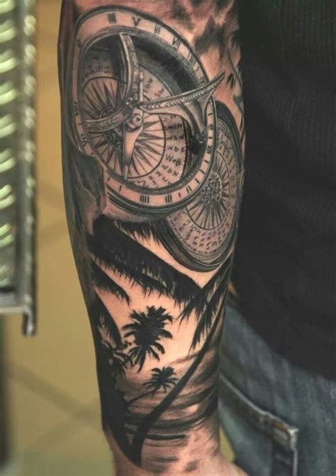 tattoo compass and rose 75 rose and compass tattoo designs meanings choose