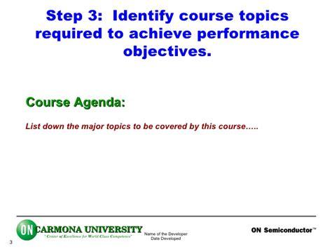 course development template course development template