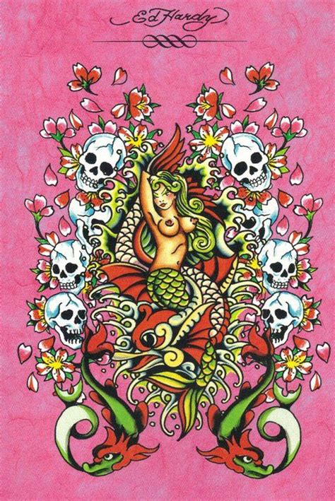 pinup mermaid tattoo ed hardy mermaid mermaids mermaids