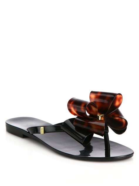 bow sandals harmonic ix bow sandals in black lyst