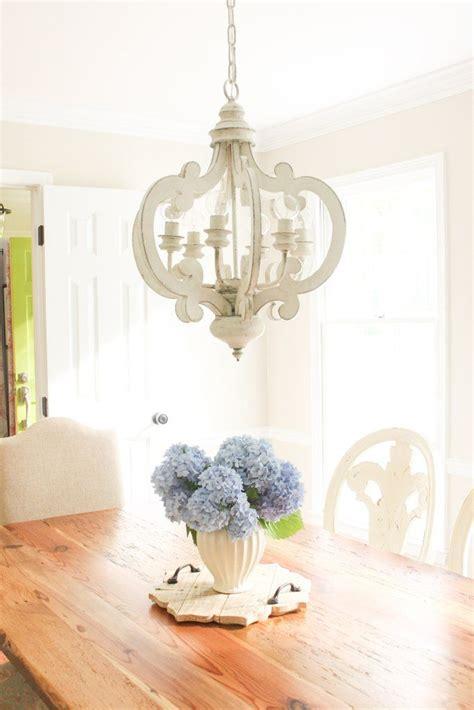 shabby chic distressed  light chandelier elegant dining