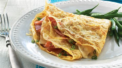Crepe Square by Ham And Egg Crepe Squares Recipe Dishmaps