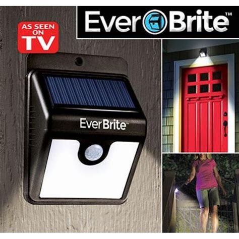ever brite led light ever brite motion activated led solar light black in