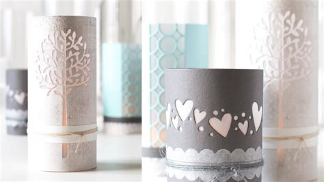 Cardstock Paper Craft Ideas - diy luminaries using card stock and craft dies
