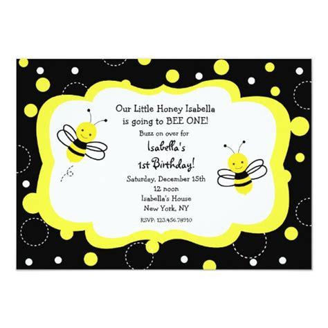 Bumble Bee Birthday Party Invitations Honey Zazzle Bumble Bee Invitation Template Free
