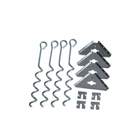 Anchor Kit For Metal Shed by Shop Arrow Galvanized Steel Storage Shed Anchor Kit At Lowes