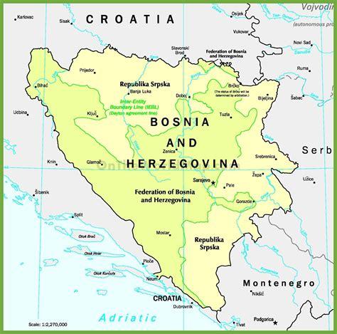bosnia map bosnia map images