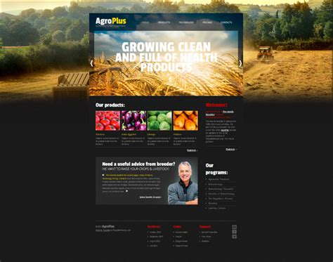 free website template with jquery slider for agriculture