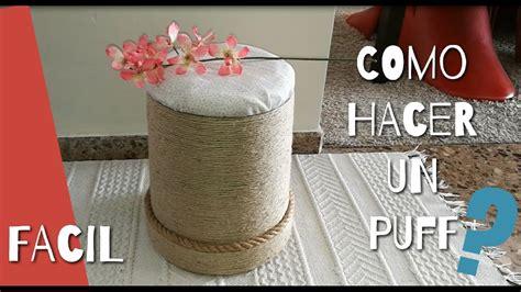 como hacer  puff  taburete  bote de pintura diy     puff   paint bucket