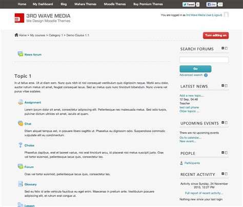 moodle theme custom css moodle theme ace course screenshot elearning themes