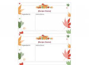 thanksgiving recipe cards printable thanksgiving recipe cards