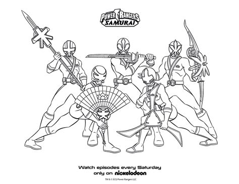 Power Ranger Samurai Coloring Page coloring power rangers and ranger on