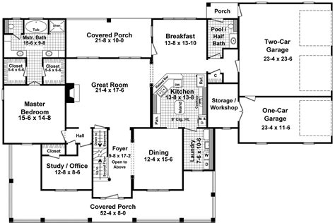 house plans with wrap around porch and open floor plan