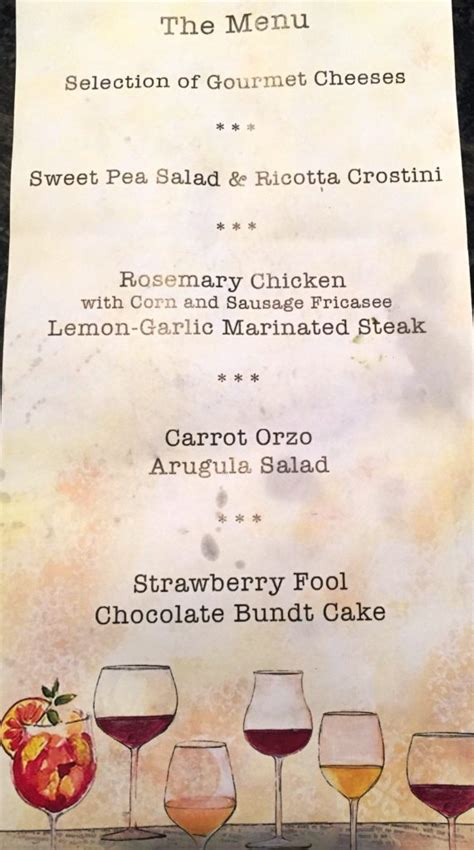 summer dinner menu a summer dinner paired with mbti food wine