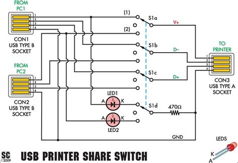 Harga Rx 727 usb printer switch circuit project circuit diagram