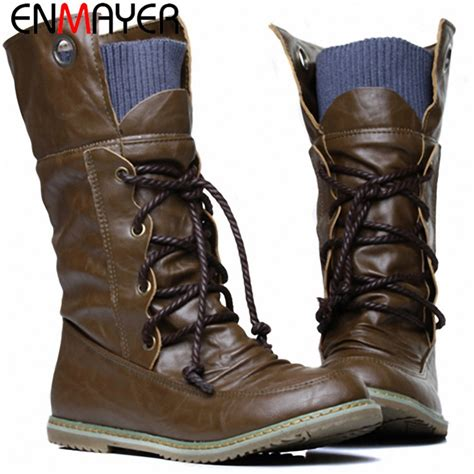 aliexpress winter boots enmayer fashion motorcycle martin boots for women winter