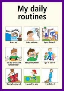 My Routine Day Essay by Marian And 250 Jar Present Simple Daily Routines