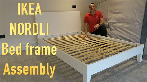 ikea nordli bed ikea nordli bed frame assembly youtube
