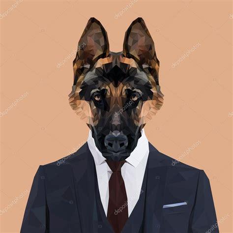 in suit german shepherd in suit stock vector 169 shekularaz 119419178