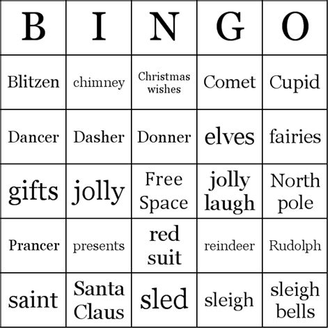printable christmas bingo cards black and white 7 best images of free printable santa bingo cards free