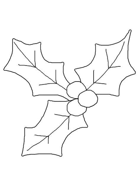 printable holly leaves printable christmas holly coloring pages coloring home