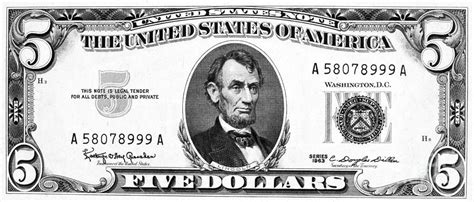 coloring page 5 dollar bill five dollar bill clipart clipart suggest