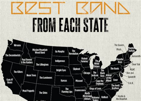 best bands the best band from each and every state craveonline