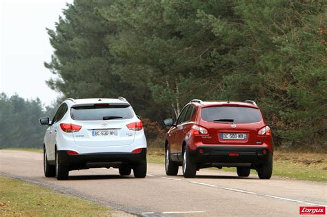 Hyundai Vs Nissan by Ix35 Vs Qasqai Autos Weblog