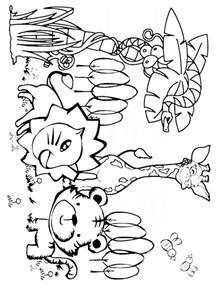 printable jungle animals coloring pages jungle animals