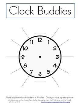 printable clock buddies 255 best teaching images on pinterest