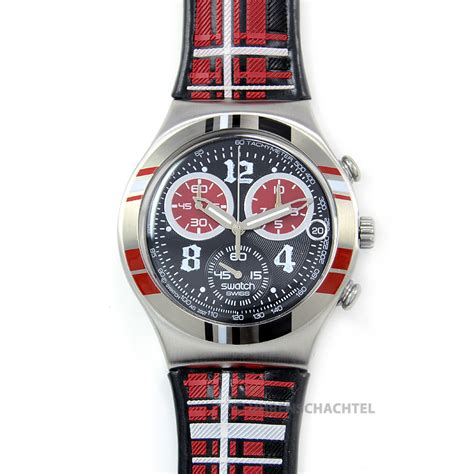 Swatch Irony Chrono 3 swatch irony chrono rock n tartan new and in original box ycs504 ebay