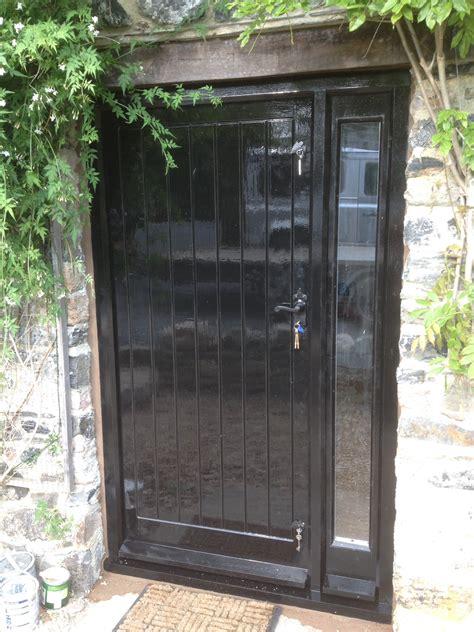 Front Door Side Panels Front Door With Glazed Side Panel The Wooden Workshop Oakford