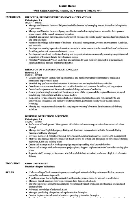 Director Of Operations Resume by Business Operations Director Resume Sles Velvet