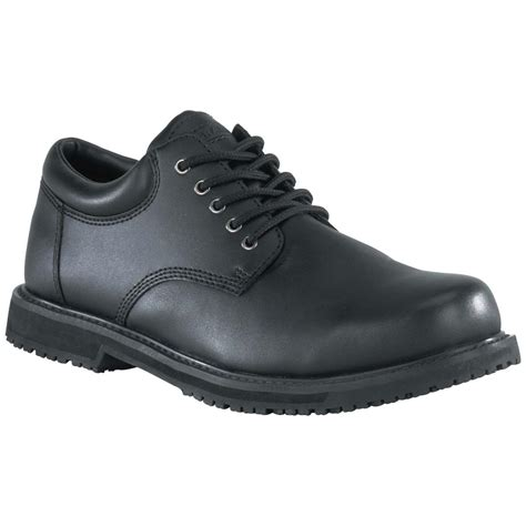 black work shoes s grabbers 174 plain toe work shoes black 580247
