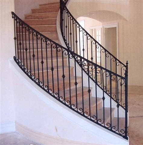 wrought iron stair railing interior wrought iron stair rails with newel posts baluster collars twisted pi