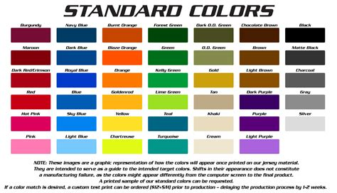 color for standard colors g2 gemini the leader in custom apparel for fishing bowling shooting racing